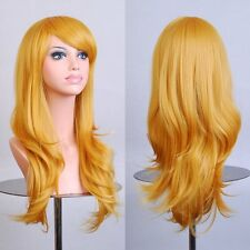 Womens Long Wavy Curly Hair Costume Fancy Dress Cosplay Wigs Full Wig 10 Colors