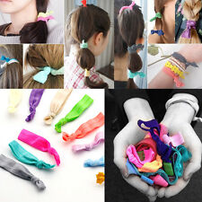 30Pcs Elastic Ribbon Hair Ties Knotted Bow Hairband No Crease Ponytail Holder