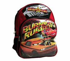 "Disney Cars Lightning McQueen Burning Rubber Kids Boys School Backpack 16"" Bag"