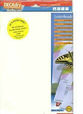 Decadry SCL-7667 A4 Ivory Cotton Letterhead Paper, Certificate Paper
