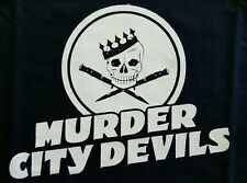 MURDER CITY DEVILS BLACK CANVAS BACK PATCH
