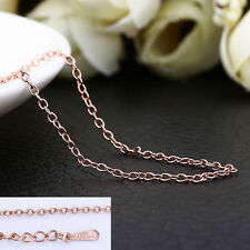 18K Rose Gold GP 1.5mm Class Chain Necklace Stunning Wholesale 18'' / 45cm + 5cm