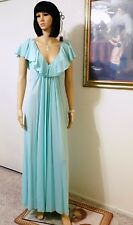 CLAIRE SANDRA by LUCIE ANN Vintage Nylon Nightgown SEAFOAM GREEN size S small