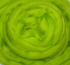 Merino Wool Roving/Top, Neon Green, felting, dreads, dolls hair, hand spinning