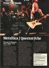 METALLICA / Queensryche 1989 concert review UK ARTICLE / clipping
