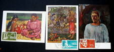 POLYNESIA 3 FD POSTCARDS GAUGUIN 1965