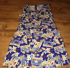 DISNEY STORE MICKEY MINNIE MOUSE TROPICAL PRINT VACATION CRUISE DRESS SMALL