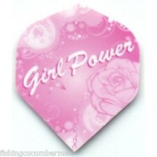 GIRL POWER EXTRA STRONG DART FLIGHTS PINK