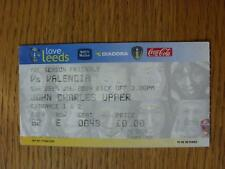 25/07/2004 Ticket: Leeds United v Valencia [Friendly]