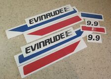 Evinrude Vintage Outboard 9.9 HP Motor Decal Kit FREE SHIP + FREE Fish Decal!