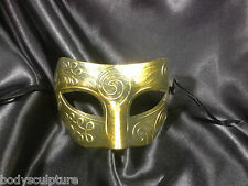 Masquerade masks, Masked Ball mask. Men's, Sexy, Gold, Venetian