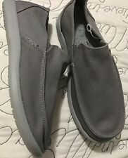 Crocs Santa Cruz Barbered Loafer Slip On Shoes Mens Size 9 Smoke Gray
