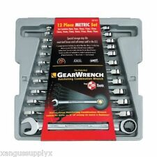 KD GearWrench 9412 12 Piece Metric MM Combination Ratcheting Wrench Set