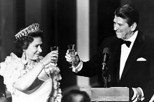 President Ronald Reagan toasting The Queen Elizabeth 11x17 Mini Poster