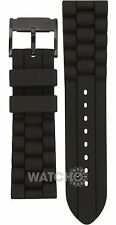 Fossil Replacement Watch Strap Black Rubber 24mm For FS4487 With Free Pins