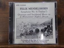 Felix Mendelssohn Symphony No 4 Midsummer Nights Dream Cd NEW ~ Sealed