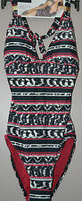 M&S AUTOGRAPH TUMMY CONTROL SWIMSUIT HALTERNECK REMOVABLE CUPS SIZE 8 - BNWT