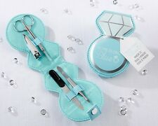 12 Something Blue Diamond Ring Manicure Set Bridal Shower Favors Q36386