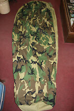 US Military Woodland Pattern Gortex Sleeping Bag Bivy Cover / Bivy Sack  EXC!!!!