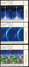 MALAYSIA 1996 MEASAT 3v set in pairs (no MS) MNH @S3887