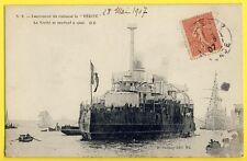 """cpa 28 Mai 1907 BORDEAUX Chantiers de LORMONT Lancement du CUIRASSÉ """"VÉRITÉ"""""""