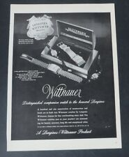 Original Print Ad 1948  WITTNAUER Watch Jewelry Longines Vintage Art