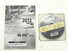 Canam Can-am DS450 DS 450 Operator Guide with Safety DVD Manuel