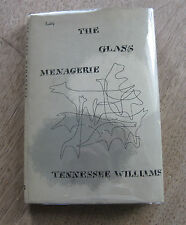 THE GLASS MENAGERIE play by Tennessee Williams-1st HCDJ 1949 -$1.50 Lustig cover