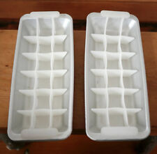 Vintage Pair 2 1950s Removable Sections Retro Aluminum Cocktail Ice Cube Trays