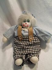 """China Doll clown Face Solid Plush Doll 8"""""""