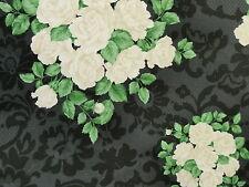 RJR Patchwork Rosenstoffe Shabby Rosenstrauß Landhaus Rosen weiß schwarz grau