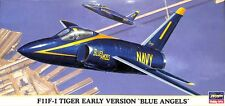 Hasegawa 1:72 F11F-1 Tiger Early Version Blue Angels Plastic Model Kit #00170