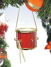 "Red Marching Drum Ornament 2"" (OMDR*) with Gift Box"