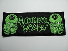 MUNICIPAL WASTE GREEN LOGO # 2 EMBROIDERED PATCH