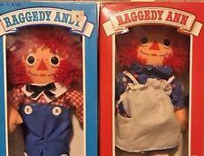 Vintage Playskool Raggedy Ann and Andy Dolls 1989 MIB