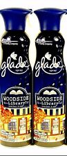2 Cans Glade Room Spray WOODSIDE LIBRARY - LEATHER & OAK Harvest  Edittion