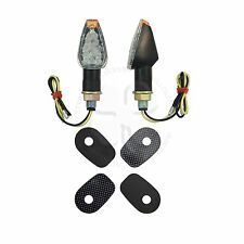 Stalk Arapaho Black Turn Signal + Adapter Plates Kit Kawasaki Ninja EX 500 R