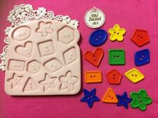 Buttons Set silicone mold fondant cake decorating cupcake food toppers FDA