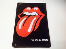 THE ROLLING STONES Metal Poster Bar  ROCK BAND 1960's wall Decor Sign Tin Plaque