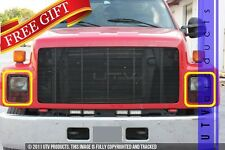 GTG, 1990 - 1996 GMC KODIAK 2pc BLACK PHANTOM ACCENT BILLET GRILLE KIT