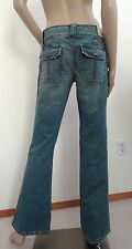 Nwt Hurley Freedom Mid Rise Flare Bootcut Denim Jeans Sz 5 x 32 Medium Wash $56