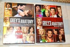 DVD GREY'S ANATOMY SEASON FOUR & FIVE BOX SET 5 & 7 discs GRAY'S