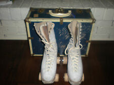 VINTAGE WOMEN'S CHICAGO ROLLER SKATES SZ 5 BETTY LYTLE HYDE WOODEN 87 WHEELS