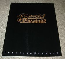 OZZY OSBOURNE Japan TOUR BOOK 1991 CONCERT PROGRAM Black Sabbath MORE OZZY liste