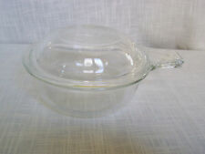 Pyrex Clear Round Lidded Refrigerator Dish with Handles No. 601B
