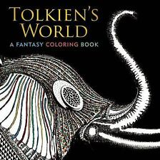 Tolkien's World : A Fantasy Coloring Book by Allan Curless (2016, Paperback)