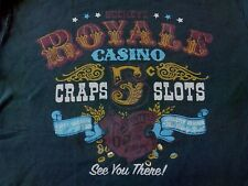 VTG MENS LUCKY BRAND BUCKEYS ROYAL CASINO CRAPS SLOTS SEE YOU THERE T-SHIRT SZ M