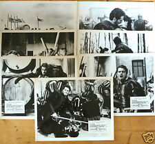 The Magnificent Adventurer 1963  Brett Halsey Claudia Mori 8  x Lobby Cards  UK
