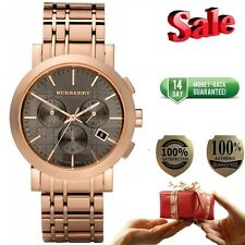 100% Authentic New Burberry BU1862 Men's Chronograph Rose Gold Watch. ON SALE