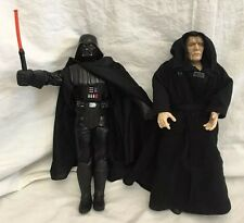 "Star Wars Sith Lord Emperor & Darth Vader 12"" Action Figure Set Hasbro Dark Side"